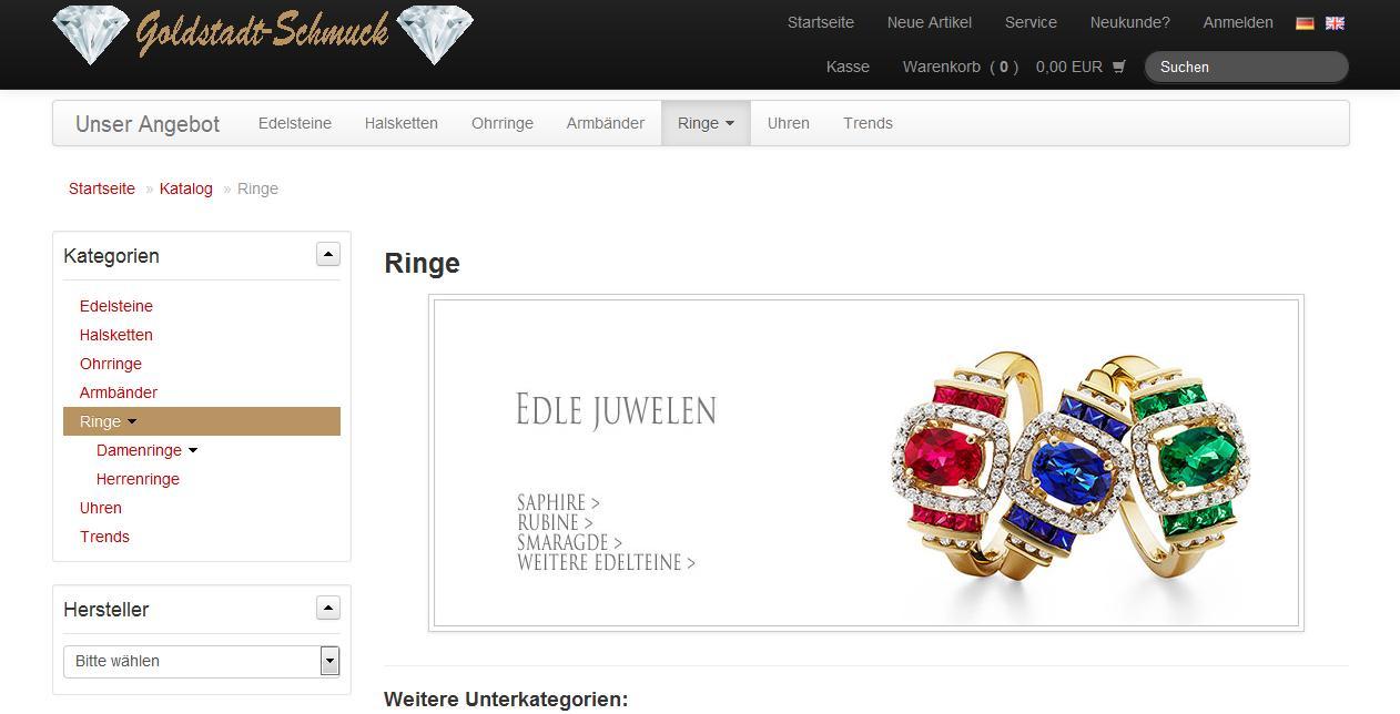 Onlineshop Responsive Design Webdesign Pforzheim Goldstadt