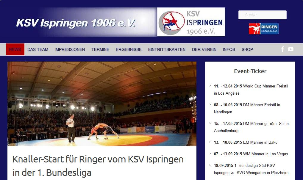 Website KSV Ispringen