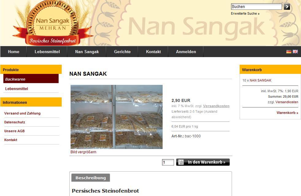 Online Shop Nan Sangak