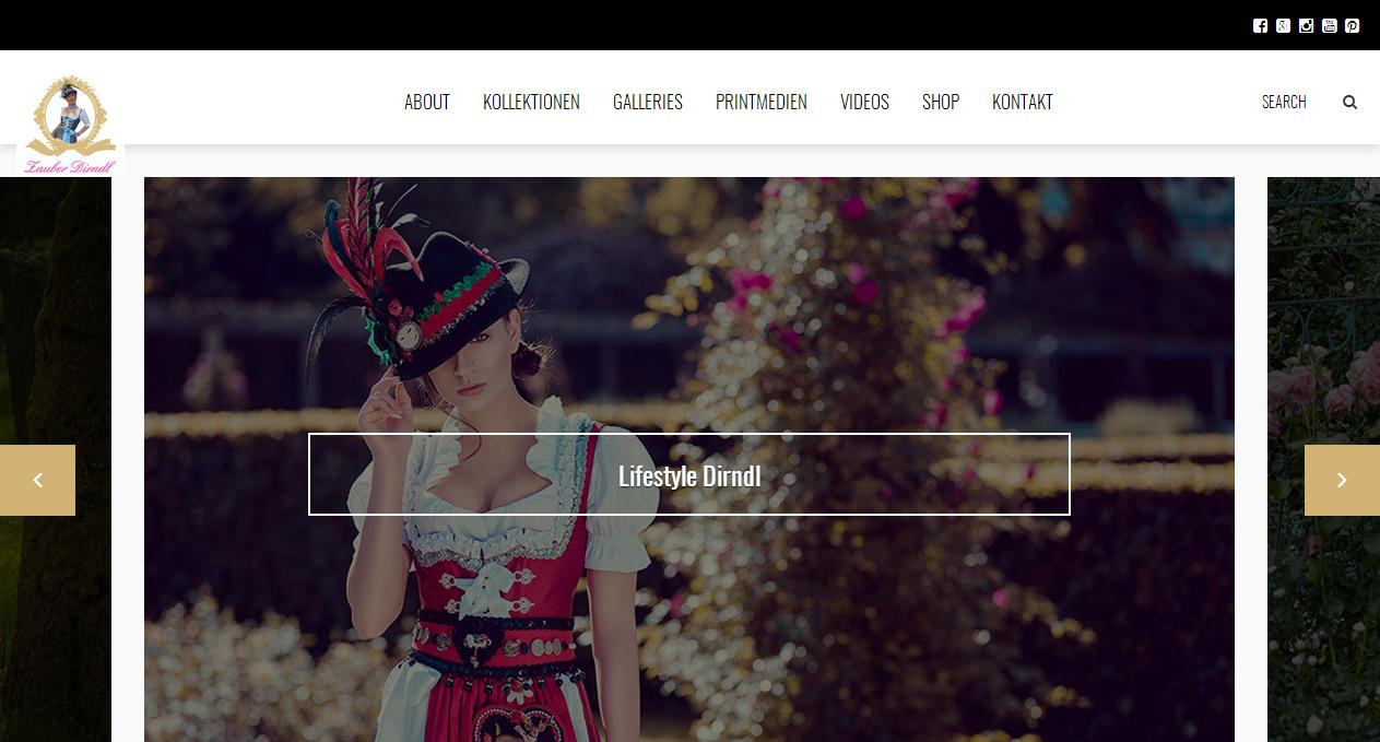 Website - Zauber Dirndl